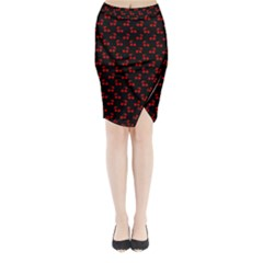 Alice Blue Quatrefoil in an English Country Garden Midi Wrap Pencil Skirt