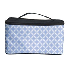 Alice Blue Quatrefoil in an English Country Garden Cosmetic Storage Case