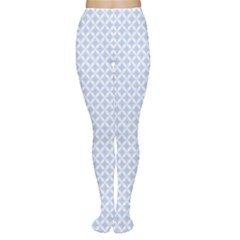 Alice Blue Quatrefoil in an English Country Garden Women s Tights