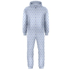 Alice Blue Quatrefoil in an English Country Garden Hooded Jumpsuit (Men)