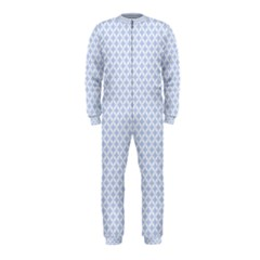 Alice Blue Quatrefoil In An English Country Garden Onepiece Jumpsuit (kids)