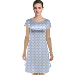 Alice Blue Quatrefoil in an English Country Garden Cap Sleeve Nightdress