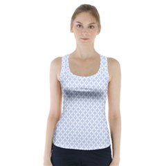 Alice Blue Quatrefoil In An English Country Garden Racer Back Sports Top