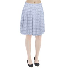 Alice Blue Quatrefoil in an English Country Garden Pleated Skirt