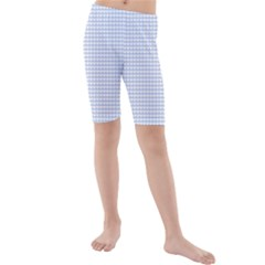 Alice Blue Hearts in an English Country Garden Kids  Mid Length Swim Shorts