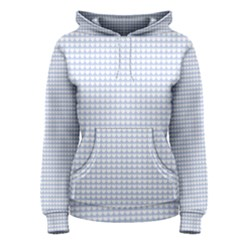 Alice Blue Hearts In An English Country Garden Women s Pullover Hoodie