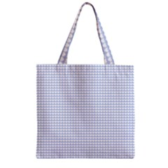 Alice Blue Hearts in an English Country Garden Zipper Grocery Tote Bag