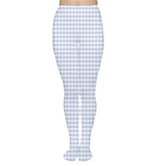 Alice Blue Hearts in an English Country Garden Women s Tights
