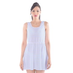 Alice Blue Hearts in an English Country Garden Scoop Neck Skater Dress