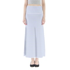 Alice Blue Hearts in an English Country Garden Full Length Maxi Skirt