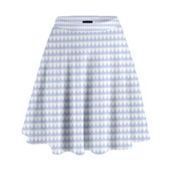 Alice Blue Hearts in an English Country Garden High Waist Skirt