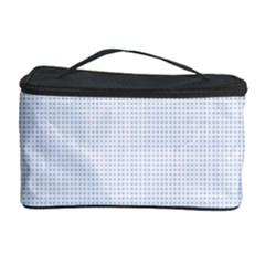 Alice Blue Lattice in an English Country Garden Cosmetic Storage Case