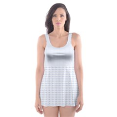 Alice Blue Lattice in an English Country Garden Skater Dress Swimsuit