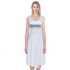 Alice Blue Lattice in an English Country Garden Midi Sleeveless Dress