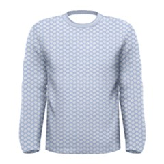 Alice Blue White Kisses in English Country Garden Men s Long Sleeve Tee