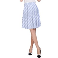 Alice Blue White Kisses in English Country Garden A-Line Skirt