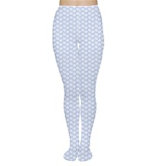 Alice Blue White Kisses in English Country Garden Women s Tights
