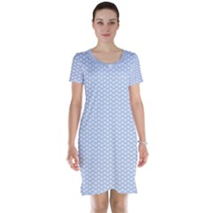 Alice Blue White Kisses in English Country Garden Short Sleeve Nightdress