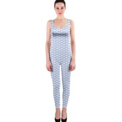 Alice Blue White Kisses in English Country Garden OnePiece Catsuit