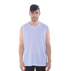 Alice Blue White Kisses in English Country Garden Men s Basketball Tank Top