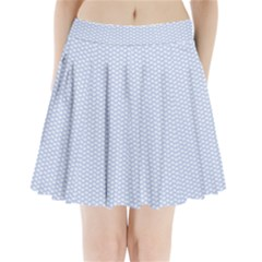 Alice Blue White Kisses in English Country Garden Pleated Mini Skirt