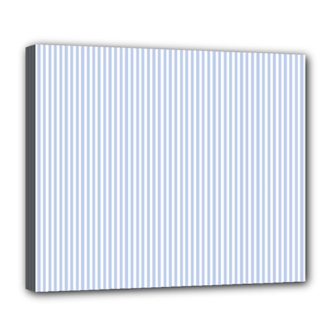 Alice Blue Pinstripe in an English Country Garden Deluxe Canvas 24  x 20