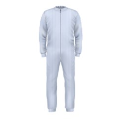 Alice Blue Pinstripe in an English Country Garden OnePiece Jumpsuit (Kids)