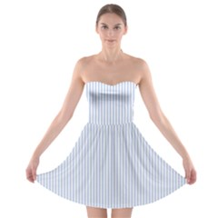 Alice Blue Pinstripe in an English Country Garden Strapless Bra Top Dress