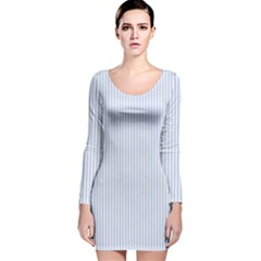 Alice Blue Pinstripe in an English Country Garden Long Sleeve Velvet Bodycon Dress