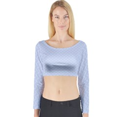 Alice Blue Mini Footpath in English Country Garden  Long Sleeve Crop Top