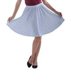 Alice Blue Mini Footpath in English Country Garden  A-line Skater Skirt