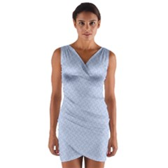 Alice Blue Mini Footpath in English Country Garden  Wrap Front Bodycon Dress