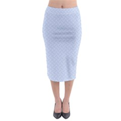 Alice Blue Mini Footpath in English Country Garden  Midi Pencil Skirt