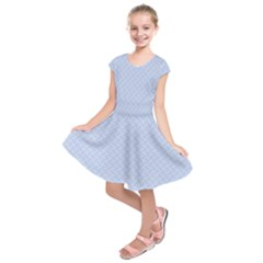 Alice Blue Mini Footpath in English Country Garden  Kids  Short Sleeve Dress