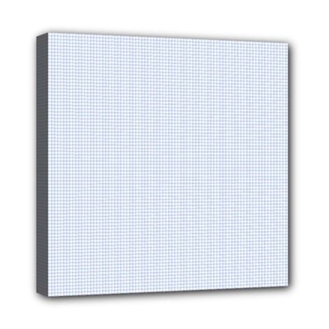 Alice Blue Houndstooth in English Country Garden Mini Canvas 8  x 8