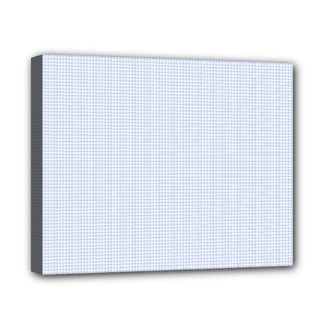Alice Blue Houndstooth in English Country Garden Canvas 10  x 8