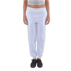 Alice Blue Houndstooth in English Country Garden Women s Jogger Sweatpants