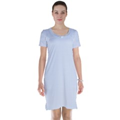 Alice Blue Houndstooth in English Country Garden Short Sleeve Nightdress