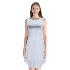 Alice Blue Houndstooth in English Country Garden Sleeveless Chiffon Dress