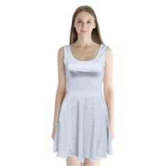 Alice Blue Houndstooth in English Country Garden Split Back Mini Dress