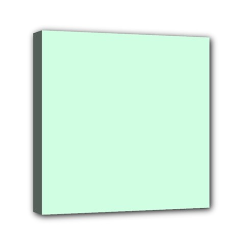 Pale Green Summermint Pastel Green Mint Mini Canvas 6  x 6