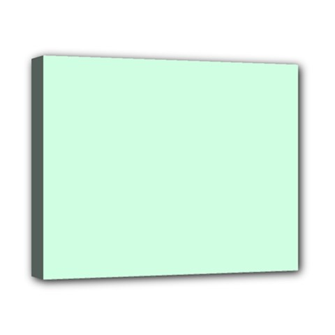 Pale Green Summermint Pastel Green Mint Canvas 10  x 8