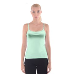 Pale Green Summermint Pastel Green Mint Spaghetti Strap Top