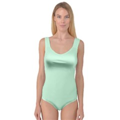 Pale Green Summermint Pastel Green Mint Princess Tank Leotard