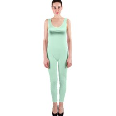 Pale Green Summermint Pastel Green Mint OnePiece Catsuit