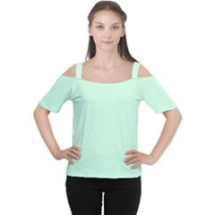 Pale Green Summermint Pastel Green Mint Women s Cutout Shoulder Tee