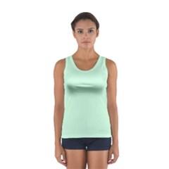 Pale Green Summermint Pastel Green Mint Women s Sport Tank Top