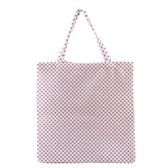 USA Flag Red Stars on White Grocery Tote Bag