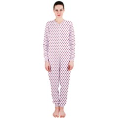 USA Flag Red Stars on White OnePiece Jumpsuit (Ladies)