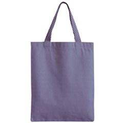 USA Flag Blue & White Wavy ZigZag Chevron Stripes Zipper Classic Tote Bag